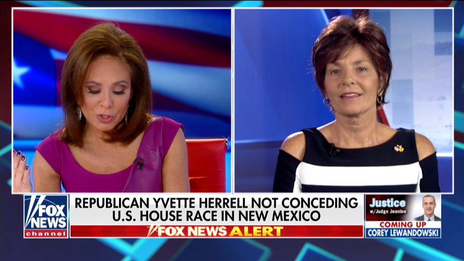 Herrell goes on Fox News to dispute vote count