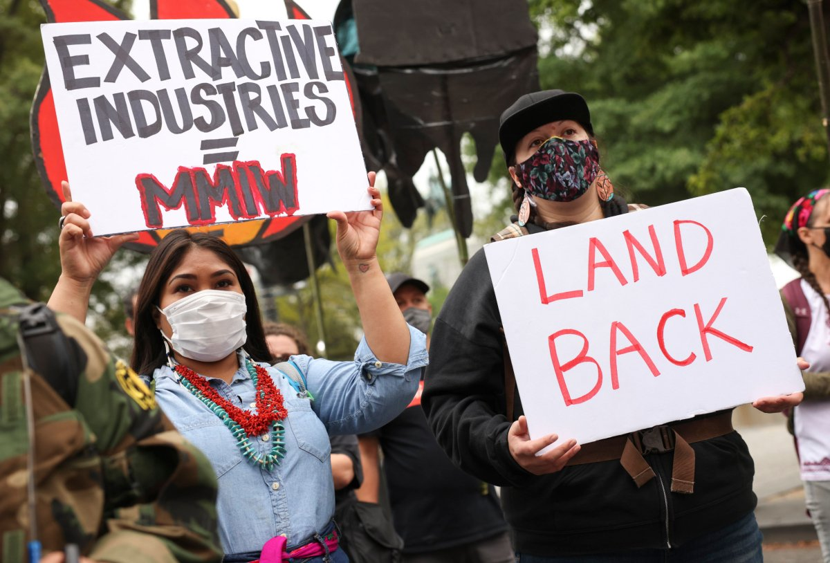 Native groups protest fossil fuels in Washington, D.C.