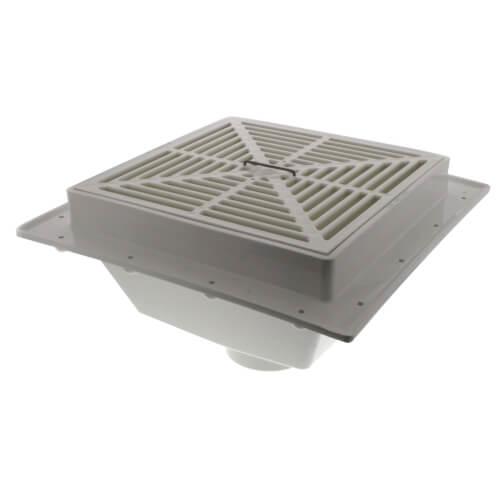 3 squaremax pvc floor sink w full size strainer
