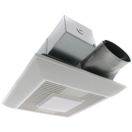 whispervalue dc 50 80 100 cfm pick a flow ceiling ventilation fan w led light