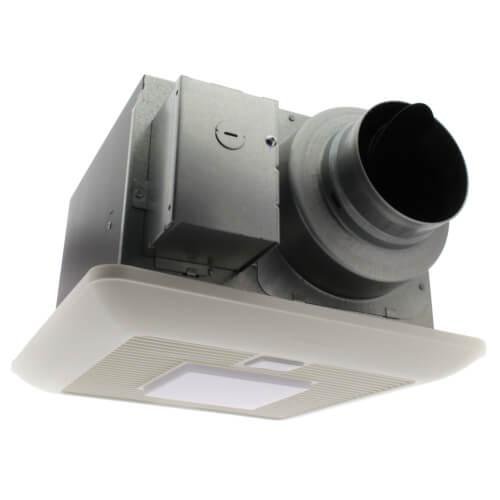 whispersense lite 50 80 110 cfm ceiling mounted fan w light dual motion humidity sensor