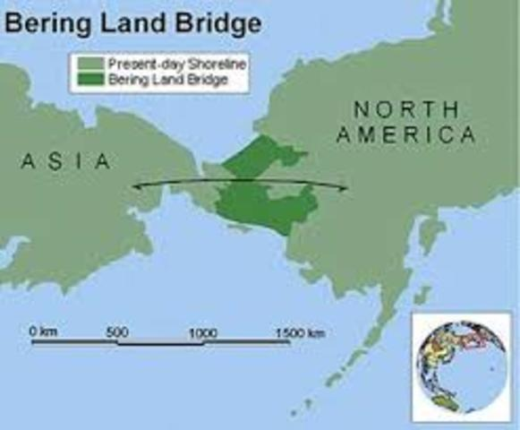America And Land Bridge North Asia Between