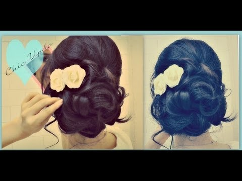 easy prom wedding hairstyles with curls formal updos for medium long hair tutorial how to