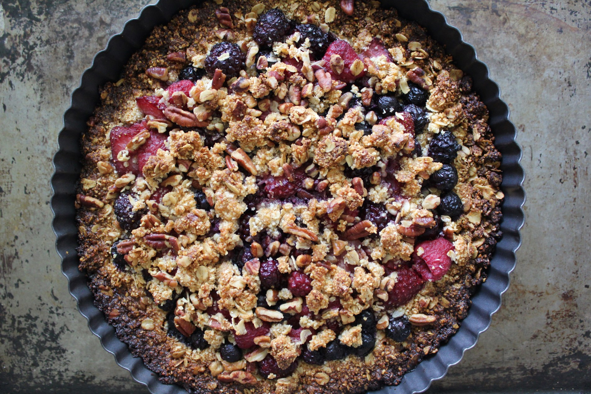 Reversible Crumbleberry Tart