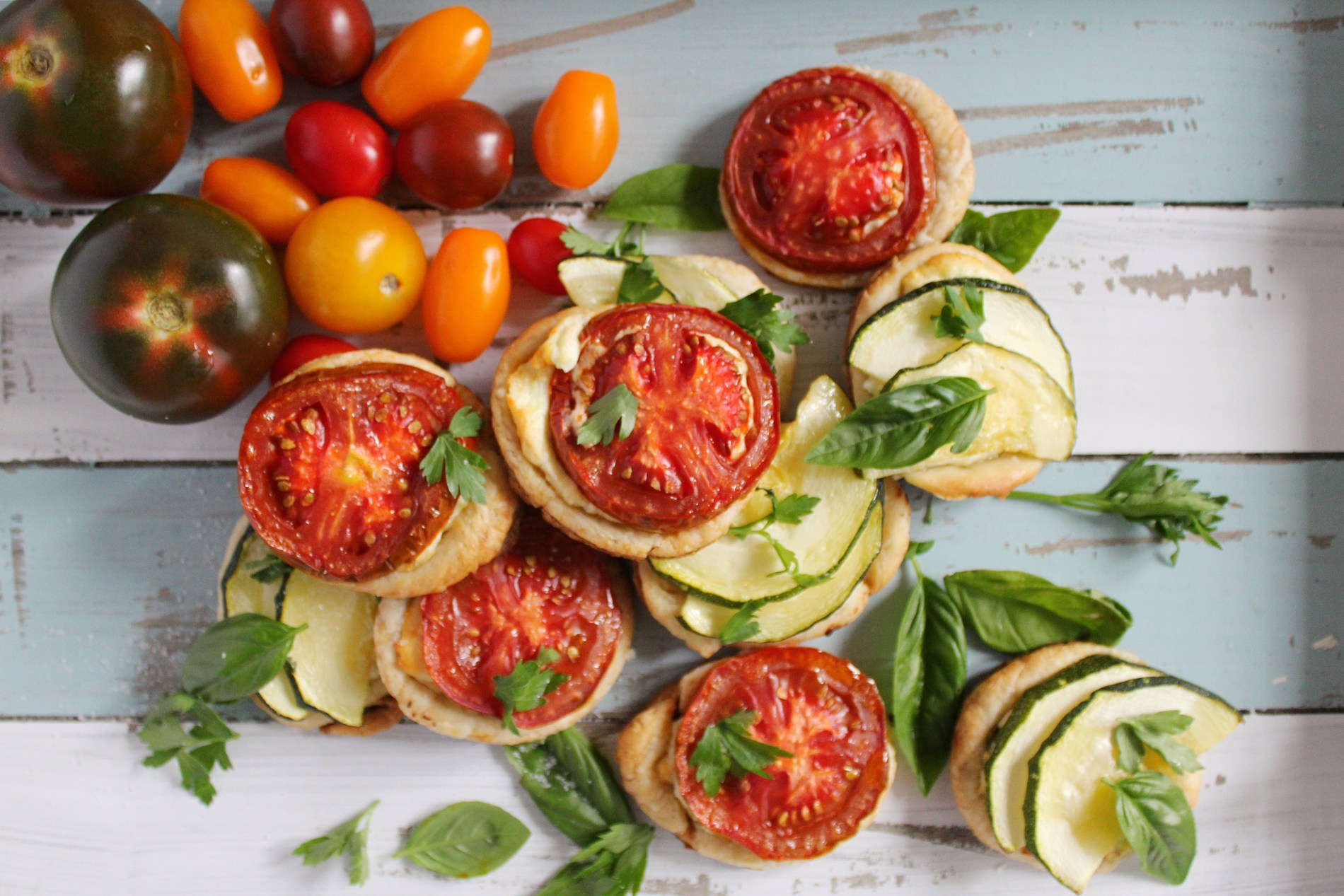 Ricotta Tomato Tarts with Sage and Lemon