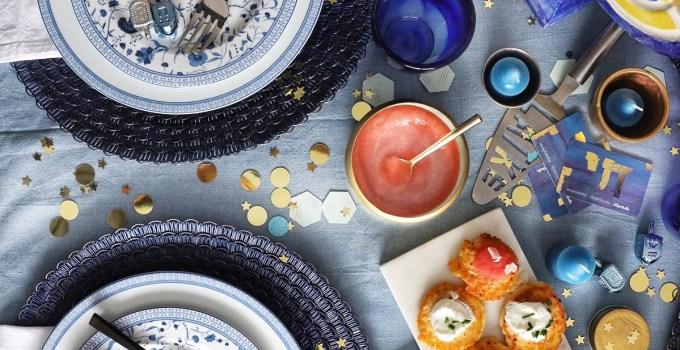 A Simply Beautiful Hanukkah Tablescape