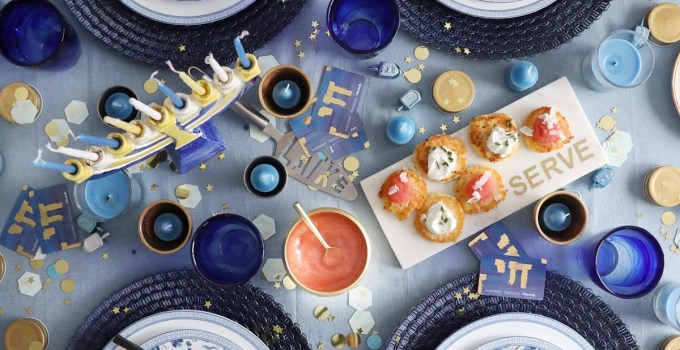 A Simply Beautiful Hanukkah Tablescape