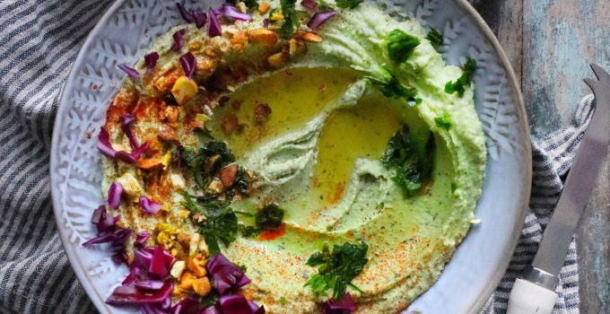 Avocado Hummus  with Roasted Pistachios