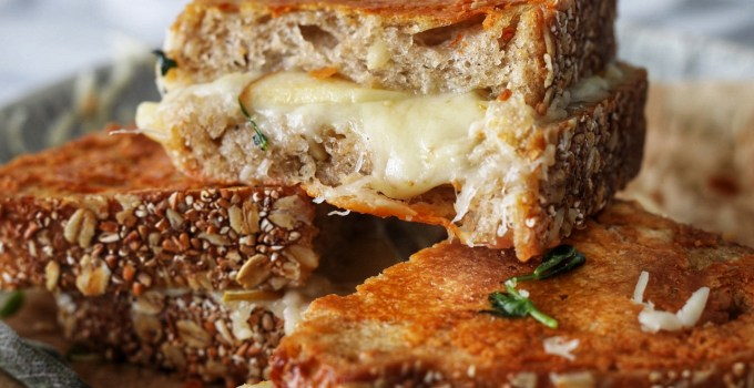 Brown Butter Sage and Sweet Apple Grilled Cheese