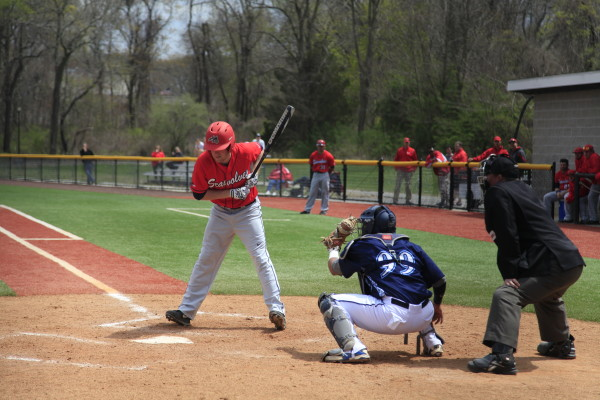 Baker, No. 6, above, was recognized for his hitting in a 4-0 week for the Seawolves. BASIL JOHN / THE STATESMAN