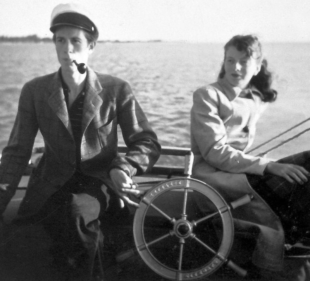 His girlfriend was his first mate. They looked were part of a civilian Coast Guard patrol to report German submarine sightings. They never saw a sub.