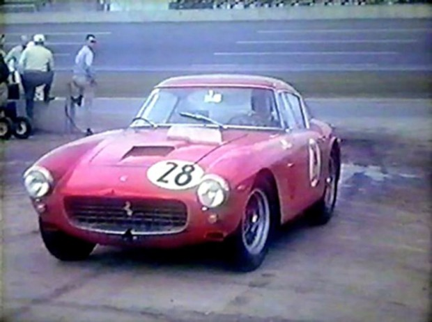 Oliver Gendebien Ferrari 250 GT SWB that finished 16th at Daytona in 1962.