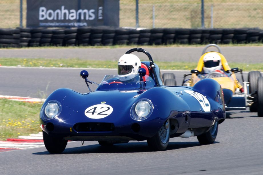 1957 Lotus Eleven Series Two driven by Arthur Cook in turn twelve.