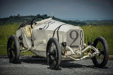 The winning 115 hp Mercedes Grand Prix car