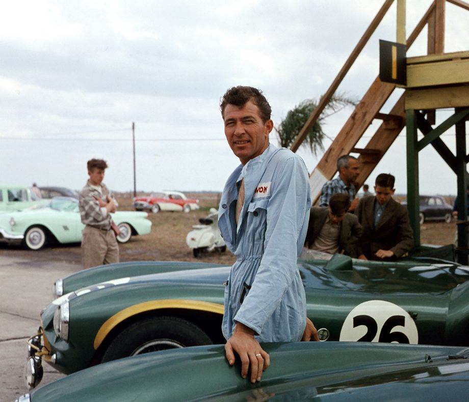Carroll Shelby drove an Aston Martin DB3S at Sebring in 1956.  His co-driver was Roy Salvadori and they finished fourth.