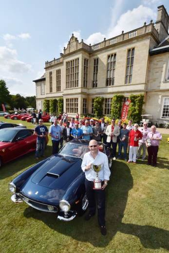 Nigel Allen with his Ferrari 250 GT SWB Berlinetta and all the winners