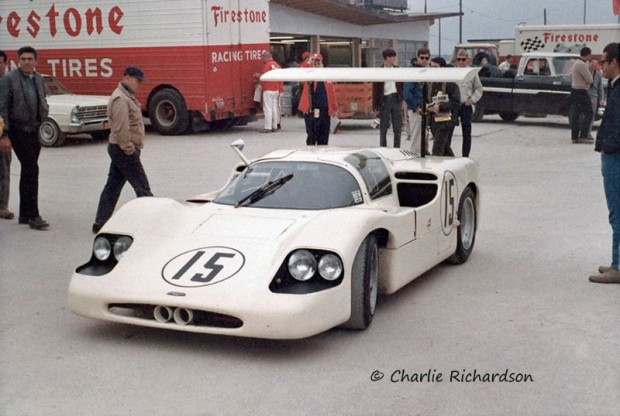 Phil Hill Mike Spence Chaparral 2F at Daytona in 1967