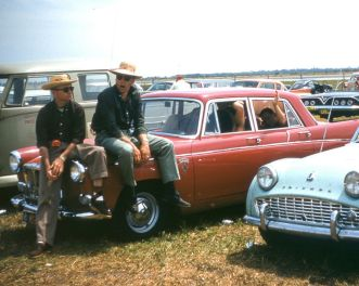Being on a limited budget the BARC boys used this MG Magnette as transportation as well as hotel room. Their diet consisted of candy bars and citrus surreptitiously acquired from local groves. BARC boys photo.