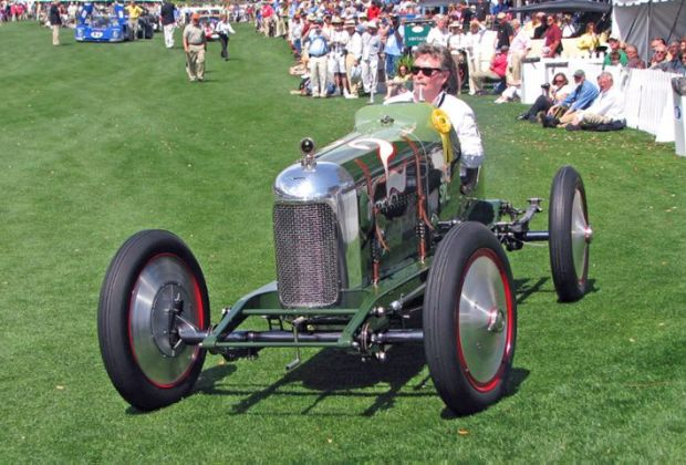 Close up of the 1923 Miller Special 122 Supercharged that won Best of Show, Concours de Sport at the 2009 Amelia Island Concours d'Elegance