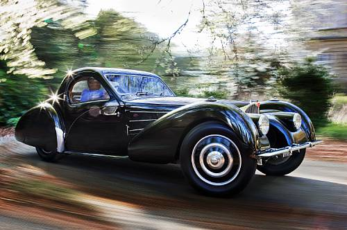 <strong>1937 Bugatti Type 57S Coupe – Estimate Unavailable. </strong>Coachwork by Gangloff of Colmar and equipped with supercharger; won Trofeo Girard-Perregaux – the special prize of the jury at 2008 Concorso d'Eleganza Villa d'Este.