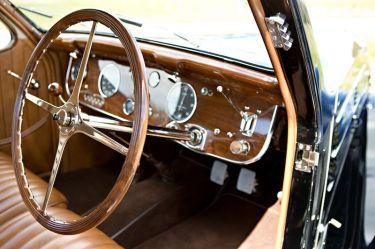 1938 Bugatti 57C Atalante Interior