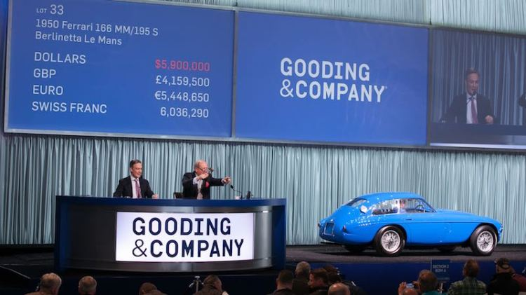 1950 Ferrari 166 MM/195 S Berlinetta Le Mans sold for $6,490,000