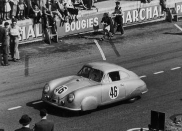 Porsche 356 SL at the 24 Hours of Le Mans 1951, Drivers: Auguste Veuillet and Edmond Mouche