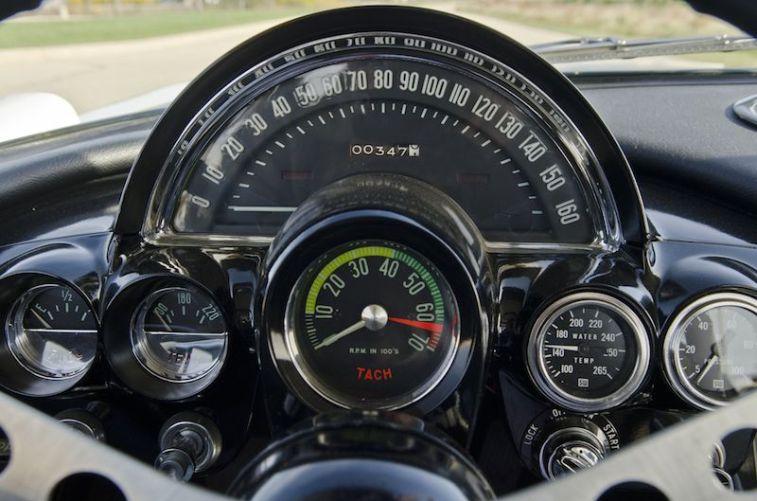 1961 Chevrolet Corvette Gulf Oil Race Car Gauge Detail