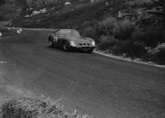 Period race photo of the 1962 Ferrari 250 GTO, s/n 3851GT