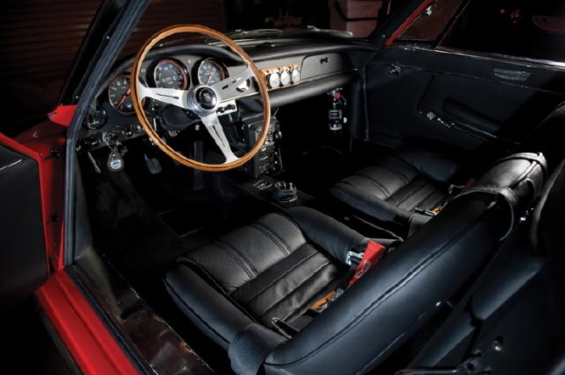 <strong>Interior features original black Connolly leather upholstery, Wilton wool carpeting and an original, vintage Heuer Speed Pilot and rally chronometer</strong>