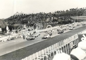 The Skyline GT lined Up for the GT-II Race during the 1964 Japan Grand Prix