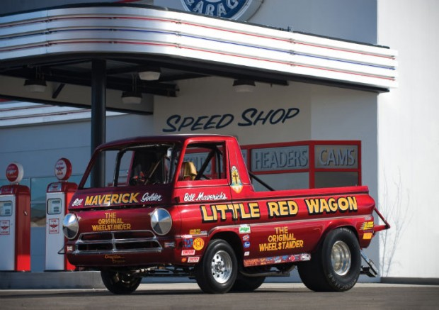 <strong>1965 Dodge A100 Pickup Truck - Estimate $200,000 - $300,000.</strong> Ex-Bill 'Maverick' Golden, the 'Little Red Wagon'  and the 'Original Wheelstander' was called America's Most Famous Race Vehicle by <em>Hot Rod</em> Magazine in 1979.