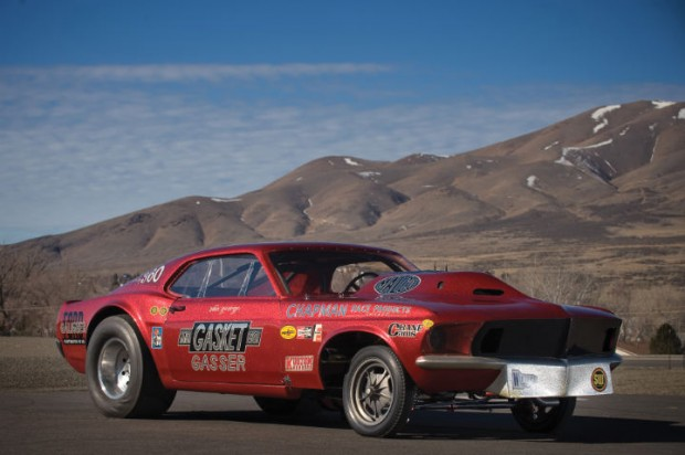 <strong>1969 Ford Mustang 'Mr. Gasket Gasser' - Estimate $200,000 - $300,000.</strong> Class-dominating Gasser, built and campaigned by legendary 'Ohio George' Montgomery; purchased directly from the Montgomery himself; GMP recently produced a limited run of 1:18-scale models of the car.