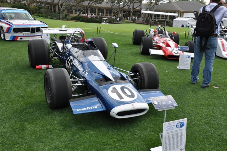 1969 McLaren M-10-B on field at Amelia Concours