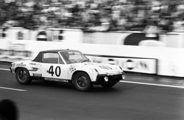 Porsche 914/6 GT of Claude Ballot-Lena and Guy Chasseuil won its class and finished 6th overall at the 1970 Le Mans 24 Hours