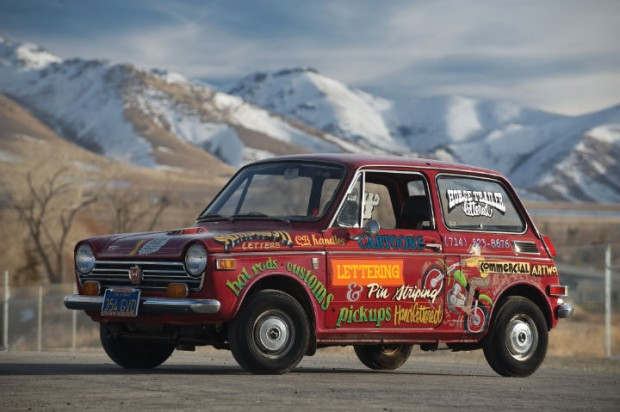 <strong>1970 Honda 600 Coupe - Estimate $30,000 - $40,000.</strong> Personal car (and rolling advertisement) of Ed 'Big Daddy' Roth.