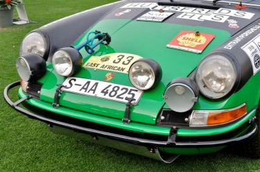 The six light set-up on the 1971 Porsche 911 STR