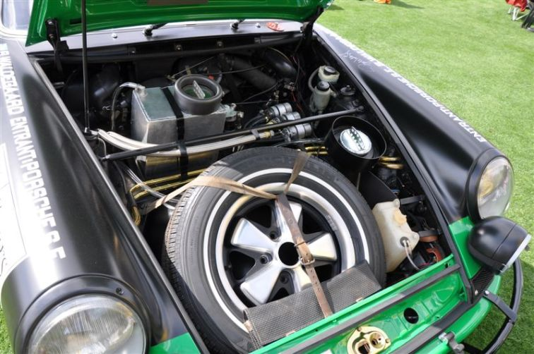 Under the hood of the 1971 Porsche 911 STR
