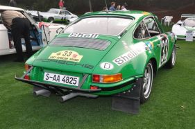 Rear picture of the 1971 Porsche 911 STR