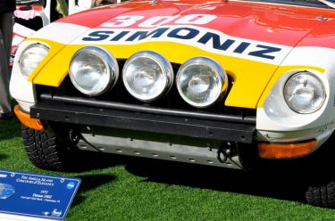 Front lights on the 1972 BRE Datsun 240Z