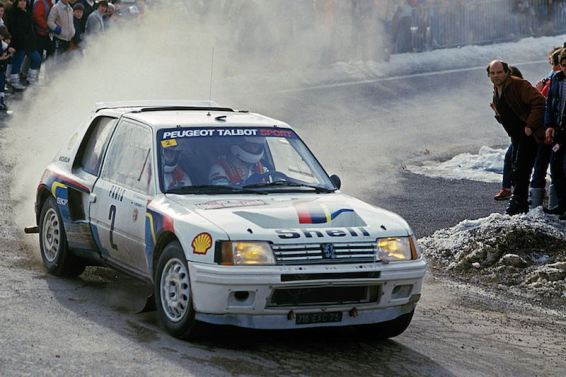 Ari Vatanen en route to victory in the 1985 Monte Carlo Rally (photo: McKlein)