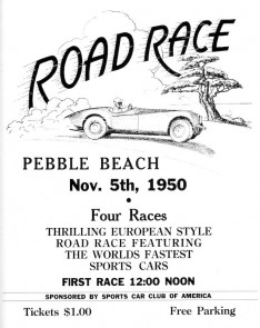 Poster for the first Pebble Beach Road Races