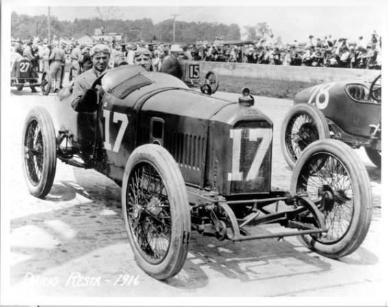 Dario Resta Peugeot, Winner 1916 Indianapolis 500 (IMS Archives)