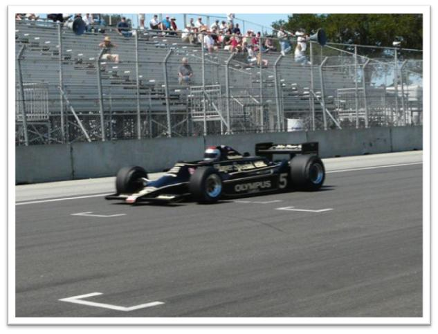 Mario Andretti in his Formula One Championship-winning Lotus 79