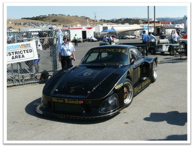 Rusty French in his black and gold 1979 Porsche 935