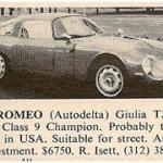 Alfa Romeo TZ – Classic Cars for Sale