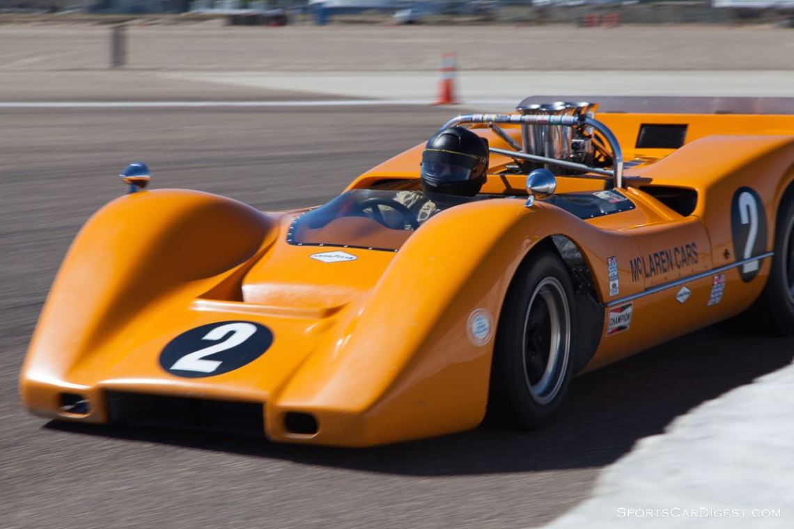 Robert Ryan on the apex of turn 10 in his 1968 McLaren M6B.
