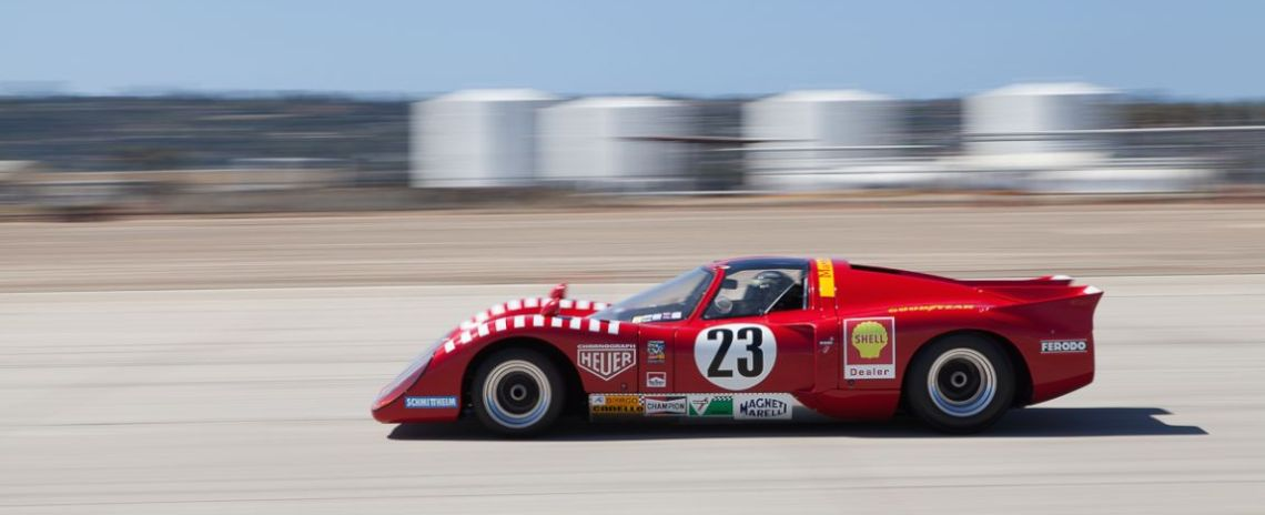 Jeff Klein races towards turn 10 in his 1970 Chevron B16.