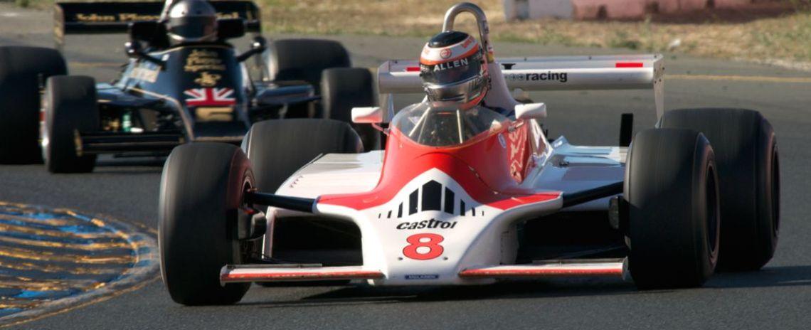 Sean Allen in his 1980 McLaren M30.