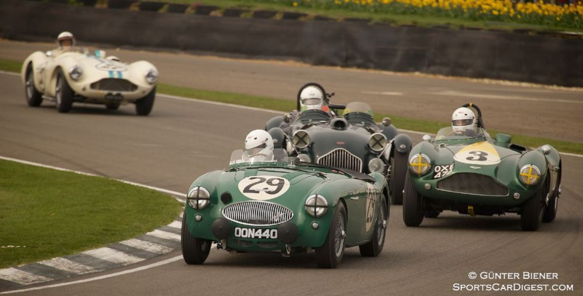 Austin-Healey 100S holds off Aston Martin DBR3